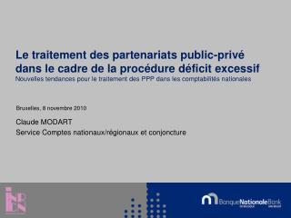 Le traitement des partenariats public-priv  dans le cadre de la proc dure d ficit excessif Nouvelles tendances pour le t