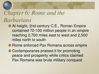 Chapter 6: Rome and the Barbarians