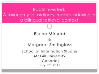 Babel revisited:  A taxonomy for ordinary images indexing in a bilingual retrieval context