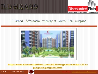 2 BHK flats for sale in ILD Grand at Sector 37 C Gurgaon