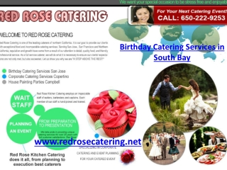 Birthday Catering Services in South Bay