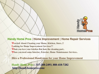 Home Maintenance Charlotte | Handy Home Pros