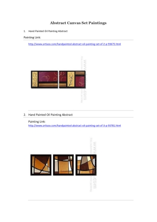Abstract Canvas Set Paintings--Artisoo