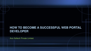 How to Become A Successful Web Portal Developer