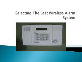 Best Wireless Alarm System
