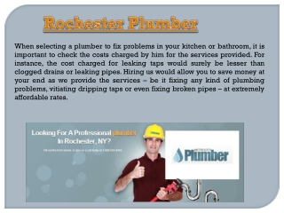 NY Rochester Plumbing