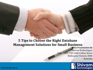 5 Tips to Choose the Right Database Management Solutions for