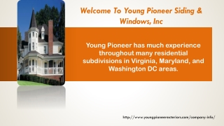 Welcome To Young Pioneer Siding