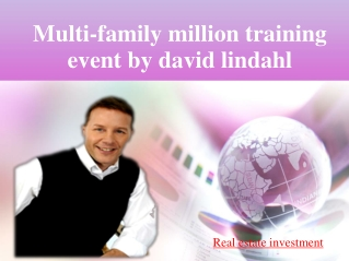 MULTI-FAMILY MILLION TRAINING EVENT BY DAVID LINDAHL