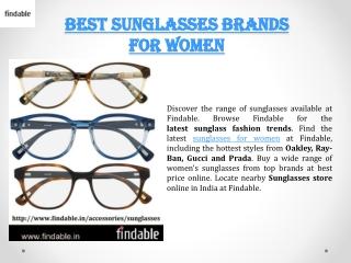 Branded sunglasses in India