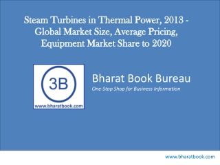 Steam Turbines in Thermal Power, 2013 - Global Market Size,