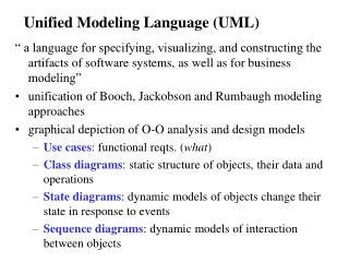 Unified Modeling Language UML