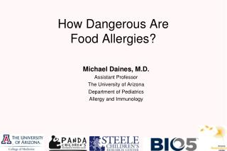 How Dangerous Are Food Allergies