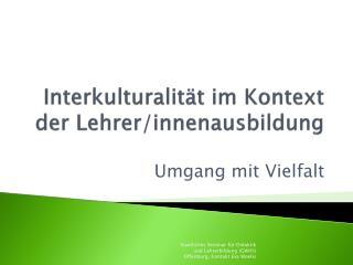 Interkulturalit t im Kontext der Lehrer