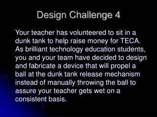 Design Challenge 4
