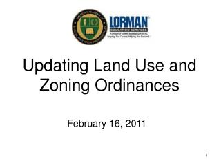 Updating Land Use and Zoning Ordinances