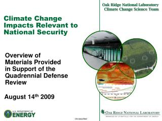 Climate Change Impacts Relevant to National Security