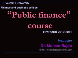 Public finance   course