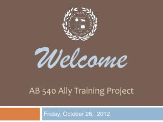 AB 540 Ally Training Project