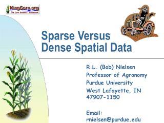 sparse versus  dense spatial data