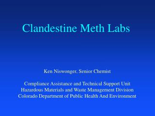 clandestine meth labs