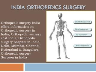 India Surgery Orthopedic Surgery