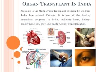 Organ Transplant Surgery India
