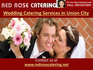 Wedding Catering Services Union City