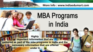 MBA Programs in India