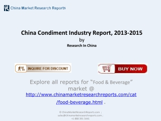 China Condiment Market 2015