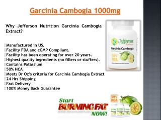 Pure Garcinia Cambogia Dr Oz