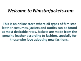 Welcome To The Film Star Jackets