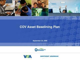 COV Asset Baselining Plan