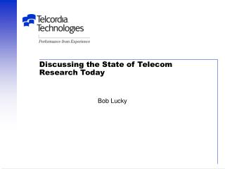 Discussing the State of Telecom Research Today