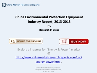 Environmental Protection Equipment Industry