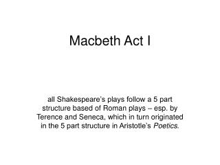 Macbeth Act I