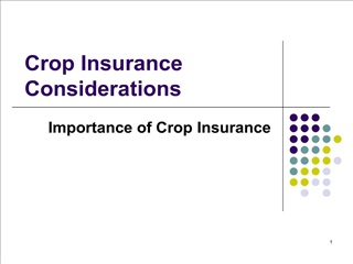 crop insurance considerations