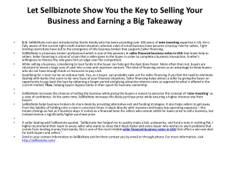 Seller Financed Business Notes In USA | Note Investing | Buy