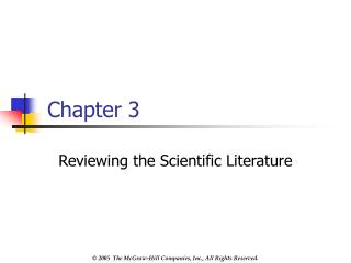 Reviewing the Scientific Literature
