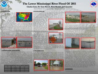 The Lower Mississippi River Flood Of 2011