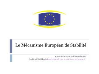 Le M canisme Europ en de Stabilit