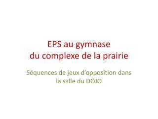 EPS au gymnase  du complexe de la prairie
