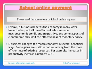 All you wanted to know about school online payment