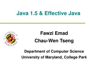 Java 1.5  Effective Java