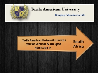 Texila American University invites you for Seminar