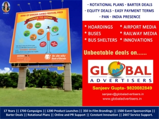 BANK OF BARODA Outdoor Media Advertising