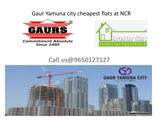 Gaur Yamuna city cheapest flats at NCR