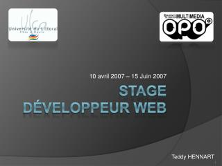 Stage D veloppeur web
