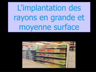L implantation des rayons en grande et moyenne surface