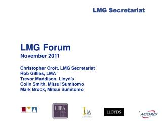 LMG Forum November 2011